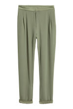 Wide trousers - Khaki green - Ladies | H&M 2