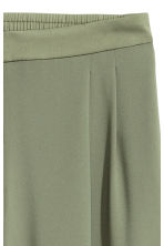 Wide trousers - Khaki green - Ladies | H&M 3