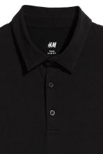 Polo shirt Slim Fit - Black - Men | H&M 3