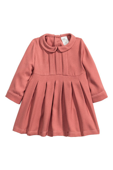 Long-sleeved dress - Terracotta pink - Kids | H&M CN