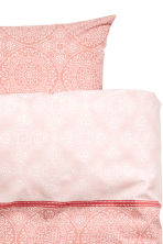 Patterned duvet cover set - Light coral - Home All | H&M CN 3