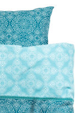 Patterned duvet cover set - Petrol - Home All | H&M CN 3
