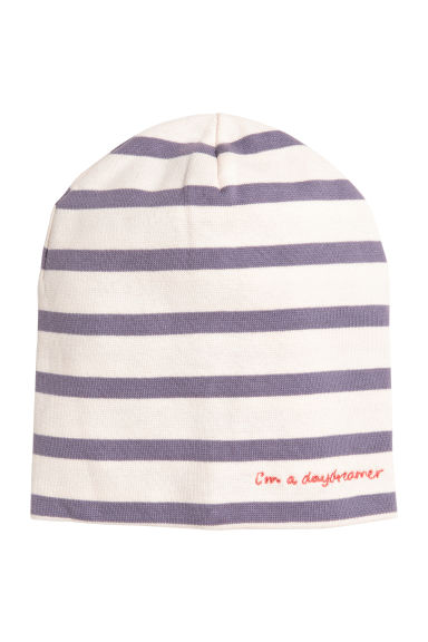 Jersey hat - Purple/White striped - Kids | H&M CN 1