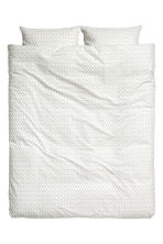 Patterned duvet cover set - White/Grey - Home All | H&M CN 2