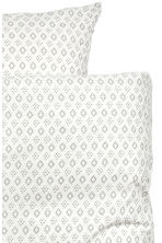Patterned duvet cover set - White/Grey - Home All | H&M CN 3
