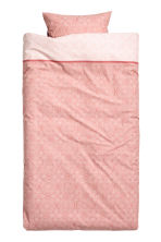 Patterned duvet cover set - Light coral - Home All | H&M CN 2