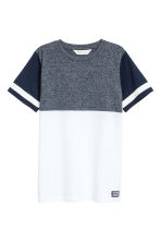 T-shirt - White/Dark blue -  | H&M 2