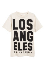 T-shirt - Light beige/Los Angeles - Kids | H&M CN 2