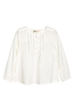 Textured blouse - White - Kids | H&M CA 2