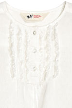 Textured blouse - White - Kids | H&M 3