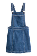 Denim dungaree dress - Dark denim blue - Ladies | H&M 2