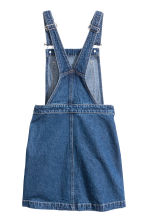 Denim dungaree dress - Dark denim blue - Ladies | H&M CN 3