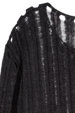 Rib-knit jumper - Black - Ladies | H&M CN 3