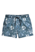 Short swim shorts - Blue/Floral - Men | H&M CN 1