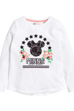 2-pack long-sleeved tops - Black/Minnie Mouse - Kids | H&M 4