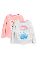 2-pack long-sleeved tops - Light pink/Disney Princesses - Kids | H&M CA 2