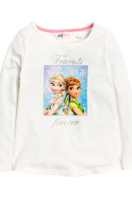 2-pack long-sleeved tops - White/Frozen -  | H&M 3