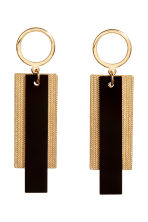 Long earrings - Gold/Black - Ladies | H&M GB 1
