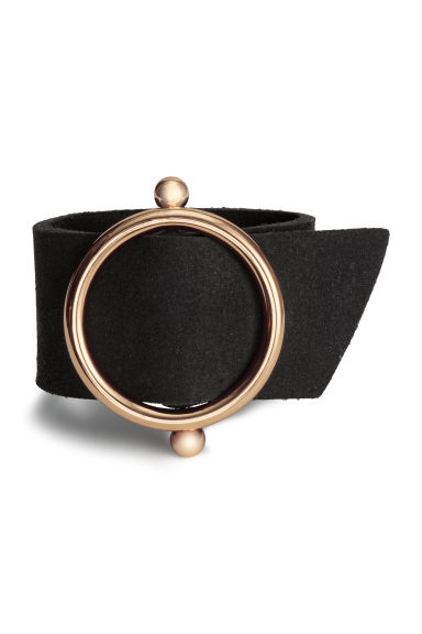 Wide bracelet - Black/Gold - Ladies | H&M 1