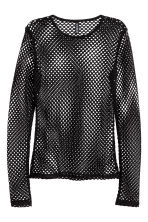 Mesh top - Black - Ladies | H&M CN 2