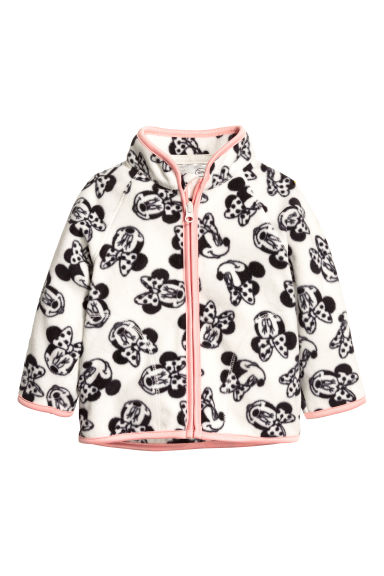 Fleece jacket - White/Minnie Mouse - Kids | H&M CN 1
