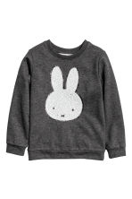 Printed sweatshirt - Dark grey/Miffy - Kids | H&M 2