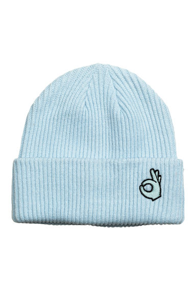 Ribbed hat - Light turquoise - Ladies | H&M 1
