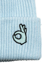 Ribbed hat - Light turquoise - Ladies | H&M 2