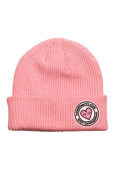 Ribbed hat - Pink - Ladies | H&M CN 1