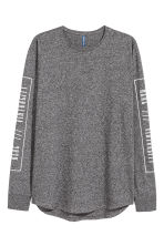 Long-sleeved T-shirt - Dark grey marl - Men | H&M 2