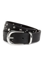 Belt with metal studs - Black - Ladies | H&M 1