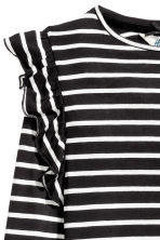 Top with frills - Black/White/Striped - Kids | H&M CN 3