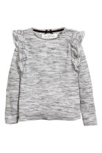 Top à volants - Gris chiné - ENFANT | H&M FR 2