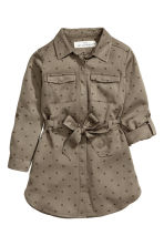 Shirt dress - Khaki green - Kids | H&M CN 3