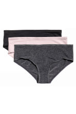 3-pack hipster briefs - Dark grey marl - Ladies | H&M CN 2