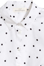 Cotton shirt - White/Spotted -  | H&M 3