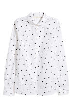 Cotton shirt - White/Spotted - Ladies | H&M 2