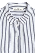 Cotton shirt - White/Blue striped - Ladies | H&M CN 3