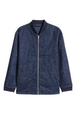 Denim bomber jacket - Dark denim blue - Men | H&M 2