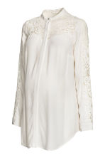 MAMA Blouse with lace - Natural white - Ladies | H&M CN 2