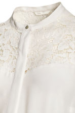MAMA Blouse with lace - Natural white - Ladies | H&M CN 3