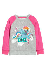 Sweatshirt with a motif - Grey/My Little Pony -  | H&M 2