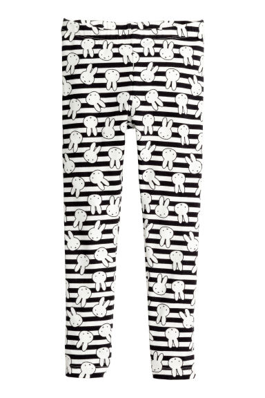 Jersey leggings - White/Miffy -  | H&M 1