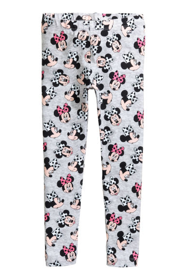 Jersey leggings - Grey/Minnie Mouse - Kids | H&M 1