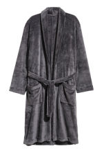 Fleece dressing gown - Dark grey - Men | H&M 2