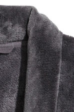 Fleece dressing gown - Dark grey - Men | H&M 3