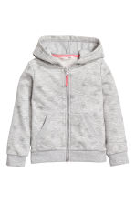 Hooded jacket - Grey marl/Stars - Kids | H&M 2
