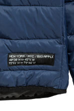 Lightly padded jacket - Dark blue - Kids | H&M CN 3