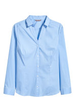 H&M+ V-neck shirt - Light blue - Ladies | H&M CN 2