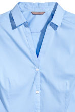 H&M+ V-neck shirt - Light blue - Ladies | H&M CN 3